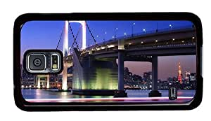 Hipster Samsung Galaxy S5 Cases free shipping rainbow bridge tokyo PC Black for Samsung S5