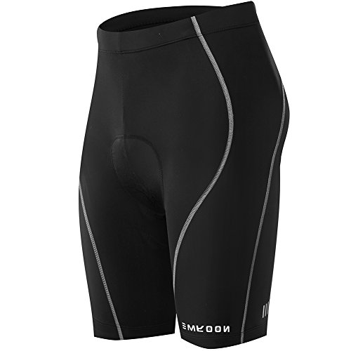 Super 100 Fabric - NOOYME (Cycling Season Deal) Women's Bike shorts 3D Padded Cycling Short with Ride in Color Design Cycling Shorts (L, Upgrade Black)