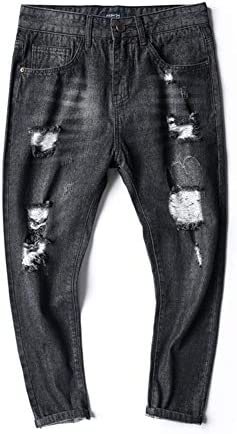 WYX Männer Fashion Jeans Männer Casual Dünne Lange Hosen Männer Denim Jeans Motorrad Biker Herbst Jeans,A,31