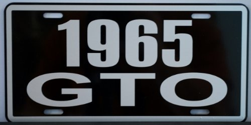 Motown Automotive Design 1965 65 Pontiac GTO Metal License Plate 389 400 455 TRI Power Hurst RAM AIR Judge Goat TAG 6 X 12 HOT Rod Muscle CAR Classic Museum Collection Novelty Gift Sign
