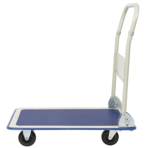 Platform Cart Folding Foldable Dolly Hand Cart Heavy Duty Industrial Warehouse Office Moving Push Hand Truck 4 Rolling - Wiki Warehouse Fashion