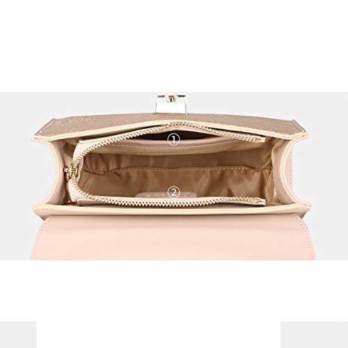 LIUFS Hombro la de Bolso pequeño de pequeño la Bolsa de Perla Exquisito Muchacha la Fresco del de Pink Oblicua Tela la Hardware del Bolso vOrUqxv