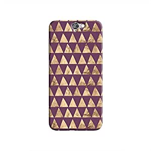 Cover It Up - Brown Purple Triangle Tile One A9 Hard Case