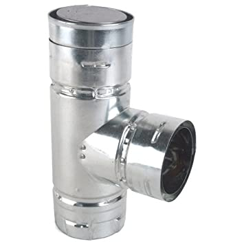 stove pipe cap. pellet stove vent tee with cleanout cap, 3\u0026quot; pipe cap