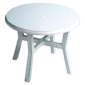 Garden Life 4050 – Table Ronde, 95 x 95 x 13 cm, Blanc