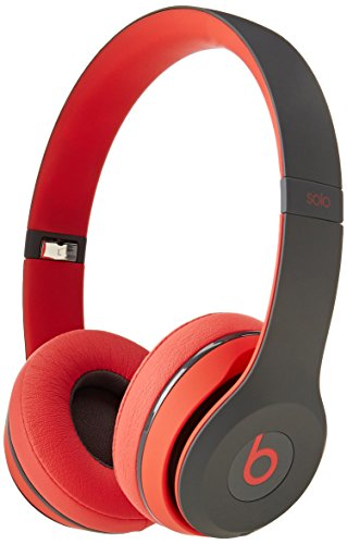 Beats by Dr. Dre Solo2 Wireless On-Ear Headphones Active Edition - Siren Red (Renewed)