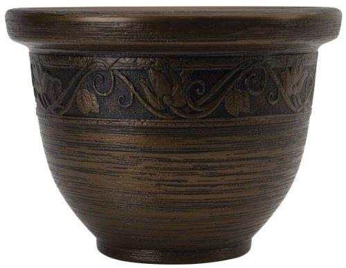 Listo 14-Inch Glaze Resin Pottery, Celtic Bronze