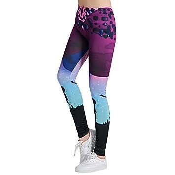 MAYUAN520 Impresión 3D Coloridos Leggings Yoga Mujeres ...