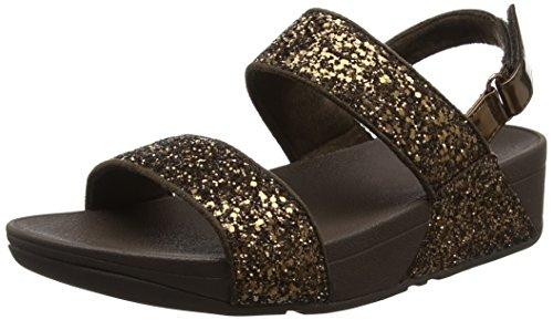 FITFLOP Glitterball Sandal, Sandalias con Plataforma Para Mujer Negro (Bronze)
