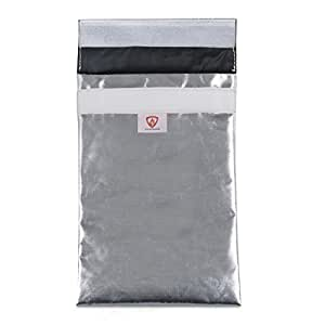 """11""""x7"""" Fireproof Bag – No Itchy Fiberglass - Black Fire Resistant Interior Material - Safe Storage For Cash, Passports, Photos, Jewelry, Valuables and LiPo Batteries"""
