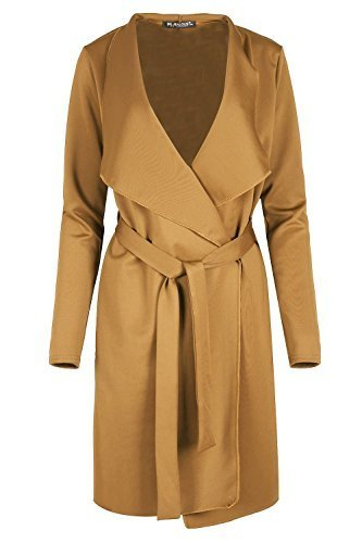 Waterfall Fashion Belted Blazers Italian Long Duster Oversized Ladies Sleeve Camel Coat Star tZOrwqZ4