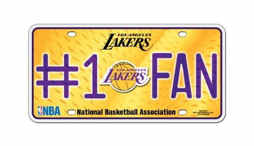 Los Angeles Lakers Metal - Rico NBA Los Angeles Lakers #1 Fan Metal License Plate Tag