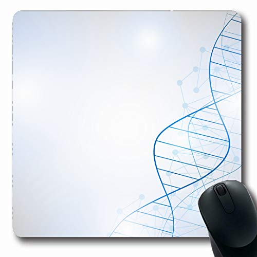 Ahawoso Mousepads Health Blue Bio DNA Molecule Structure Abstract Futuristic Genetic Technology Gene Strand Oblong Shape 7.9 x 9.5 Inches Non-Slip Gaming Mouse Pad Rubber Oblong - Strand 9.5 Inch