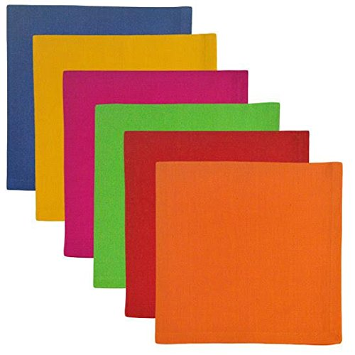 Heart of America 6 Assorted Primary Napkins - 12 Pieces