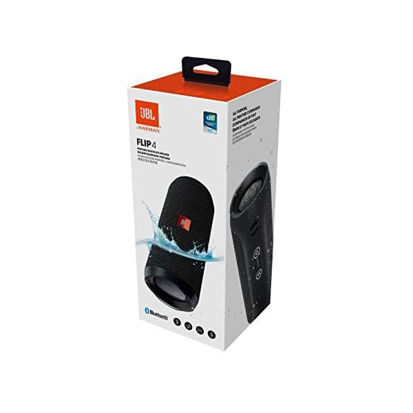 JBL Flip 4 - enceinte Bluetooth Portable Robuste - Étanche Ipx7 pour Piscine & Plage - Autonomie 12 Hrs - Qualité Audio JBL - Noir 5