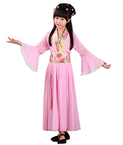 Bysun Girls's Costume Han Chinese Clothing Hot Pink120 -