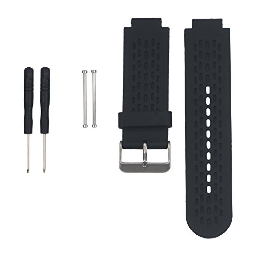 Band for Garmin Approach S2 /S4, Silicone Wristband Replacement Watch Band for Garmin Approach S2/S4 GPS Golf Watch (Black) (For Garmin Watchband)