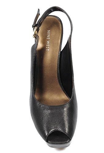 NINE WEST - Sandalias De La Correa De Honda De Trasera Mujer NWUNIDA BLACK Tacón: 12.5 cm