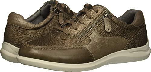 Aravon Women's Power Comfort TIE Sneaker Metallic 5.5 2E US