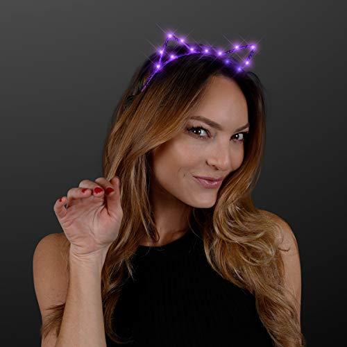 Starlight Kitty Cat Ears Headband with Purple LED Lights ()