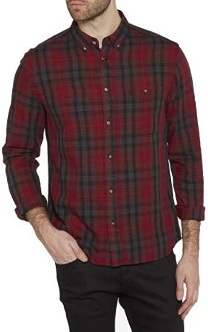 Wrangler Long Sleeve Refined Polo Rhubarb Red Camisa para ...