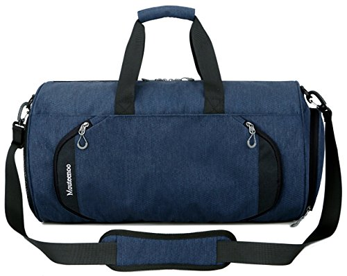 Gym Sports Small Duffel Bag for Men and Women with Shoes Compartment - Mouteenoo (Small, Blue/Black) by Mouteenoo (Image #1)