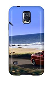 Durable Defender Case For Galaxy S5 Tpu Cover(2004 Volvo C70 Convertible)