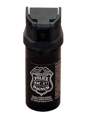 (P-489 4 Oz Pepper Spray- With Flip Top- Police Strength Oc-17 Magnum Self Defence Steel)