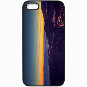 Protective Case Back Cover For iPhone 5 5S Case Lights Sunset Black