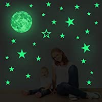 Smilelane 30cm Moon Wall Decals Decorations Glow in The...
