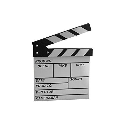 Whthteey Wood Film Clap Board English Movie Clapper Board - Clapper Sunglasses