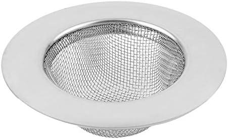 9cm Silver Stainless Steel Kitchen Floor Drain Sink Strainer Prevent Clogging Appliance Sewer Strainer Water Tank Filter