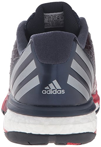 Adidas Performance Mens Energy Volley Boost 2.0 Scarpa Da Pallavolo Rosso Vivo / Notte Metallizzata / Dark Navy