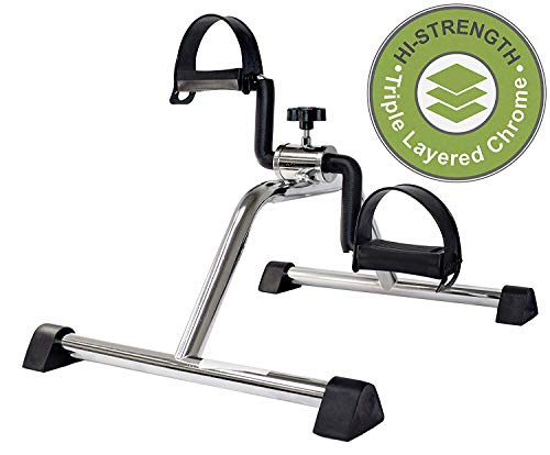 (Vaunn Medical Pedal Exerciser Chrome Frame (Fully Assembled Exercise Peddler, no Tools Required))