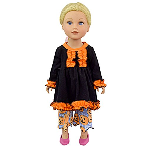 Ballerina Doll Halloween Costume (Zeroyoyo Doll Clothes Halloween Pumpkin Fits 18
