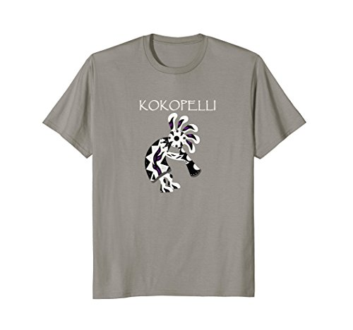 Kokopelli Adult T-shirt - Mens Kokopelli T-Shirt Native American Flute Player Gift Tee Medium Slate