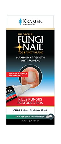Fungi-Nail Anti-Fungal Ointment. 0.7 FL. OZ. Clinically Proven Toe Fungus Ingredient. Stops Skin Fungus Around Nails. Cures Most Athlete's Foot. Foot Fungus Antifungal Cream