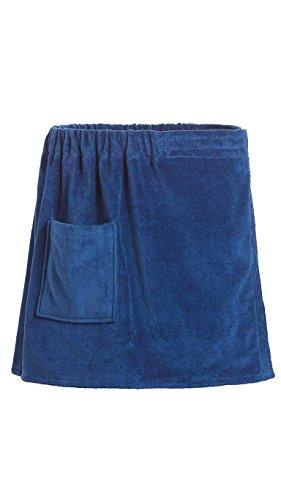 Goza Towels Men's Spa Bath Shower Terry Velour Cotton Towel Wrap (Navy Blue, One - Mens Wrap