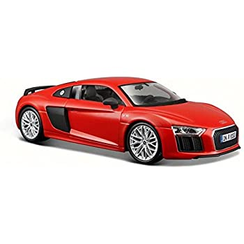 AUDI R8 V10 Plus, Red - Maisto 31513 - 1/24 Scale Diecast Model Toy Car
