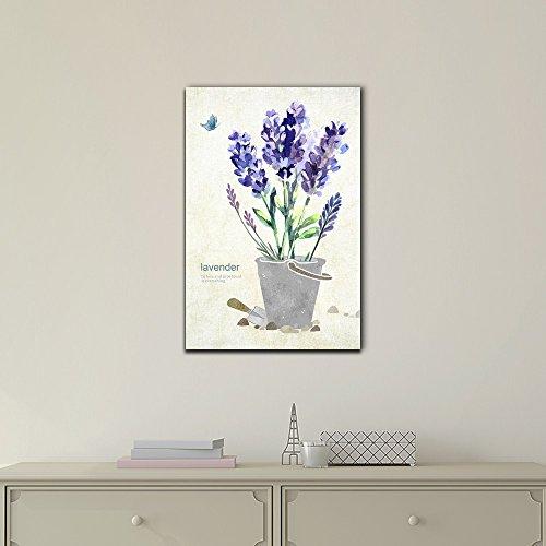 Purple Lavender Flowers in a Pot
