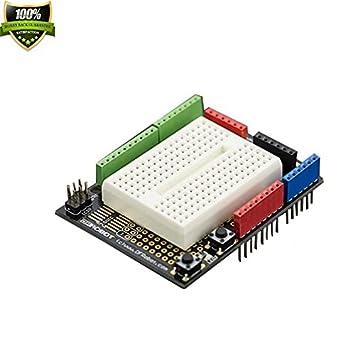 T prototipos Shield para Arduino/usado para construir un circuito de prototipo, componentes puede ser soldada ...