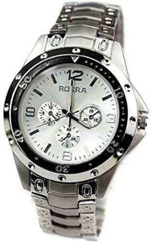 KDR Enterprise Exclusive Rosra Silver Casual Analogue Watch for Men