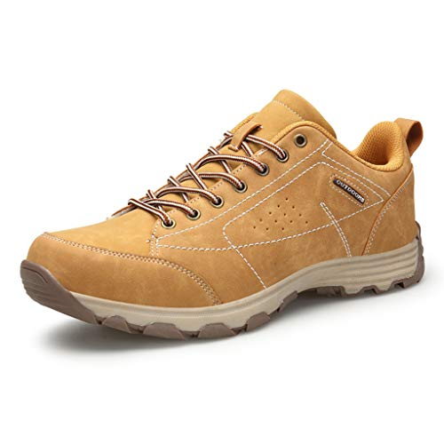 Hiking Shoes for Men Lace-up Ultra-Light Comfortable Climbing Shoes