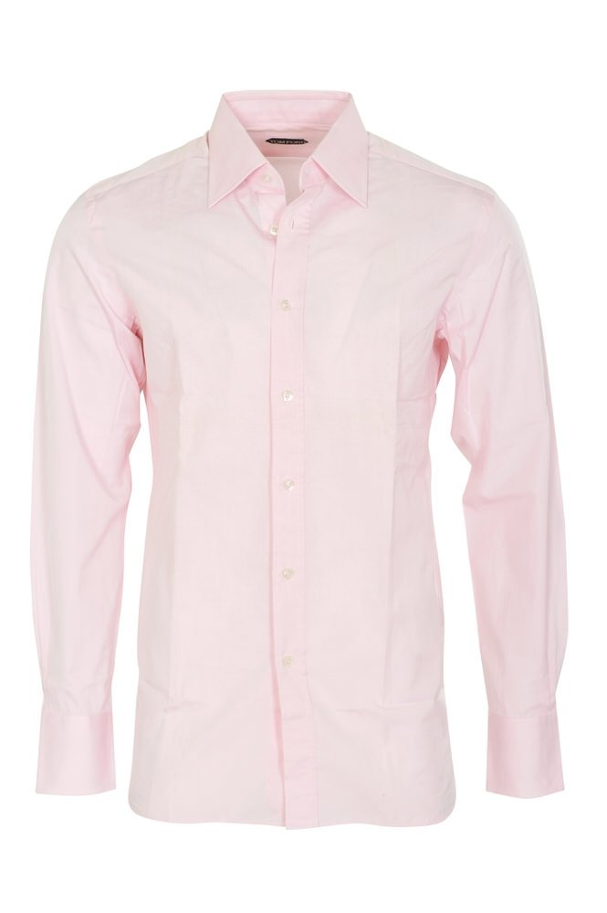 Tom Ford Shirt Men's Rose Cotton Regular Fit Business shirt Business Single Cuff - 2 Buttons 44