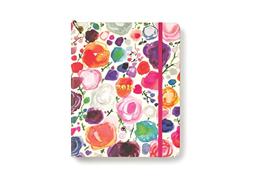 """Kate Spade New York Large 12-Month Annual Hardcover Planner with Daily, Weekly, Monthly Spreads for January 2019 – Dec 2019, 9.38"""" x 7.38"""", Floral"""