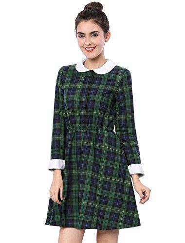 Green Check School Dress