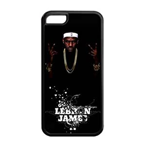 Perfectly Designed iPhone 5C TPU Case with Miami Heat LeBron James Image-by Allthingsbasketball