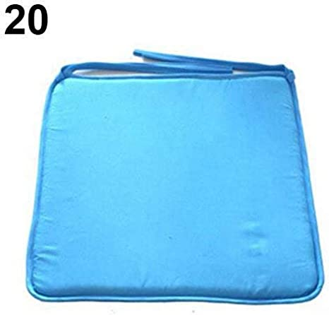 Morbido Polka DOT Solido Sedile Pad da Viaggio Home Office Decor Cravatta sulla Sedia Cuscino # 3-Blu Pianura #1-Grey Dumpy Grid