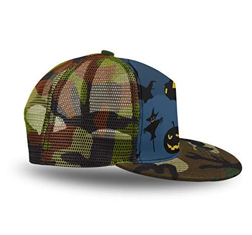 YongColer Halloween Pumpkin Bat Adjustable Baseball Cap, Unisex Hip Hop Snapback Flatbrim Hats Outdoor Sport Cap Trucker Hat]()