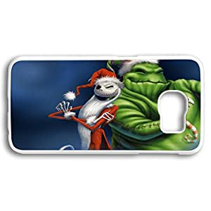Customized Cute Cartoon Movie The Nightmare Before Christmas jack and sally Wallpaper PC White Case Cover for Samsung galaxy S6